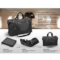Folding Leatherette Travel Bag ( Flight Cabin Size Compliant )