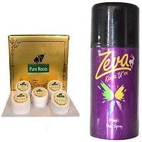 "Pure Rootsâ""¢ Gold Facial Kit -100 Gm Free Zeva Deodorant Spray -150ml"