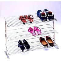 Sterling Folding Shoe Rack 3 Shelves