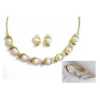 Sempre Of London Beautiful Jewelry Set Off White