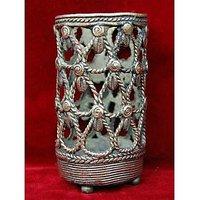 Dhokra Handicraft Round Pen Stand