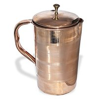 AsiaCraft Elegant Pure Copper Jug With Lid