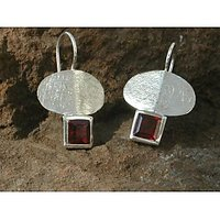 Style Vibes Sterling Silver Earrings Maroon