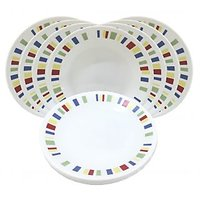Corelle Dinner Plates - Memphis Quarter Dinner Plates - Set Of 8