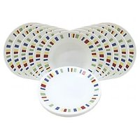 Corelle Dinner Plates - Memphis Quarter Dinner Plates - Set Of 12
