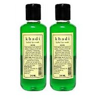Khadi Herbal Neem Face Wash (Twin Pack)