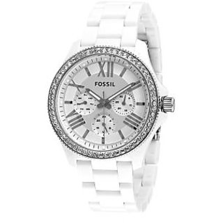 Fossil Am4494 White/Silver Analog Watch