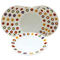 Corelle Dinner Plates - Hot Dots Corelle Plates - Set Of 8