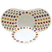 Corelle Dinner Plates - Hot Dots Corelle Plates - Set Of 12