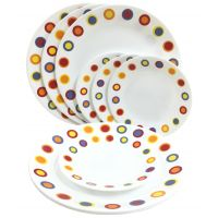 Corelle-Hot Dot Dinner Plates / Hot Dot Quarter Plates-Set Of 4