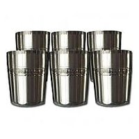HomesCapes  6 Pcs. Stainless Steel Glass Set For Kids / Tea