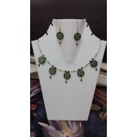 Beautiful Terracotta Green Necklace Set Of 5