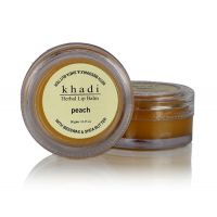 KHADI NATURAL PEACH LIP BALM- With Beeswax & Shea Butter 10 Gm