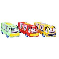 Tour Bus Toy (Set Of 10 Bus)