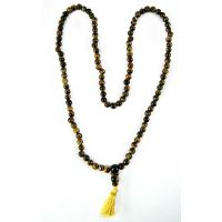 """TIGER EYE STONE POWER MALA , TIGER EYE POWER MALA BEADS SIZE 6-7MM, 108+ BEADS"