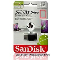 Sandisk Pendrive 64GB With Ultra Dual USB Drive With OTG Micro USB Port 64 GB
