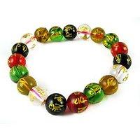 """""""OM MANI Bracelet, Fengshui Crystals, OM MANI PADME HUM, TIBETAN CHARM BRACELET - 73896734"""