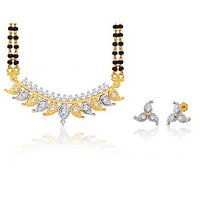 Peora 18 Karat Gold Plated Mangalsutra Earrings Set (Design 6)