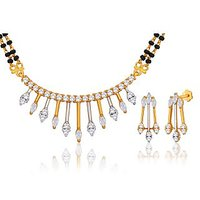 Peora 18 Karat Gold Plated Mangalsutra Earrings Set (Design 11)