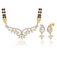Peora 18 Karat Gold Plated Mangalsutra Earrings Set (Design 18)