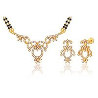 Peora 18 Karat Gold Plated Mangalsutra Earrings Set (Design 12)