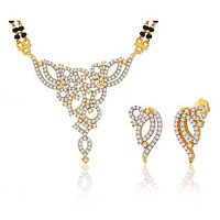 Peora 18 Karat Gold Plated Mangalsutra Earrings Set (Design 2)