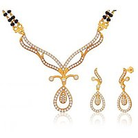 Peora 18 Karat Gold Plated Mangalsutra Earrings Set (Design 3)