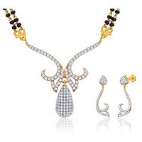 Peora 18 Karat Gold Plated Mangalsutra Earrings Set (Design 13)