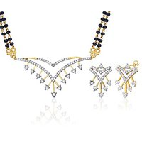 Peora 18 Karat Gold Plated Mangalsutra Earrings Set (Design 19)