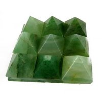 """GREEN AVENTURINE SET OF 9 SMALL PYRAMIDS ON A PLATE(4.5X4.5CM) , CRYSTALS, HEAL"