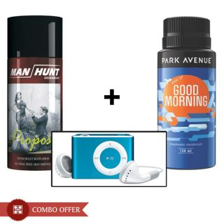 Combo of Park Avenue Deo, Manhunt Deo and MP3 Player