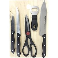 6 Piece Knife Set With Chopping Board And Scissors
