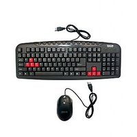 TRICOM USB Multimedia Branded Keyboard Mouse Combo Kit  With 1 Year Warrenty