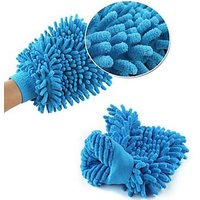 Double Sided Micro Fiber Premium Wash Mitt Gloves - Set Of 2