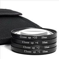 58mm Macro Closeup EOS Lens Kit For Canon 1100D 1000D 550D 600D 55-250mm Lens