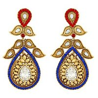 Asmara Dazzling Gold Plated Kundan And Stone Encrusted Earrings