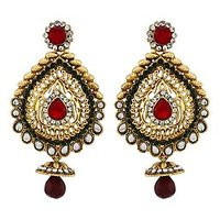 Asmara Designer Gold Plated Kundan Studded Earrings