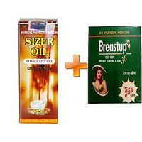 Sizer Oil + Breast Up Cream Combo For Both