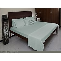 DUCK EGG solid dyed Bed set - DOUBLE