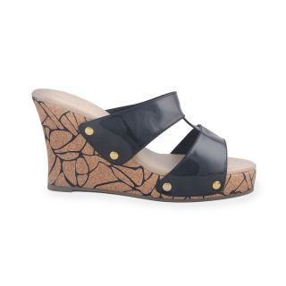 Ladies Wedges / Sandals / Heels / High Heel Wedge - ZDF0117 - BLACK - Zaera