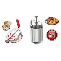 Stainless Steel Puri Maker With Menduvada Maker