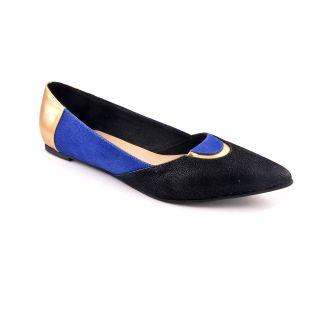 Ladies Ballerinas / Belly Shoes/ Pointed Ballerina - ZDF0115 -BLUE - Zaera