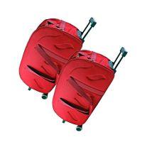 "KeepSake Maroon 2 Wheel Trolley Duffle Bag- 20"" & 24"" (Inch) Size Combo Sets"