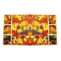 New Floral Design Universal Fridge Top Cover - 6 Pockets