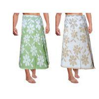 JBG Home Store 100% Cotton Floral Design Bath Towels( Set Of 2)