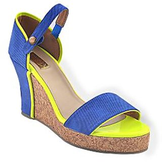 Ladies Wedges / Sandals / Heels  - Block Wedge - ZDF0090 - BLUE - Zaera Designs