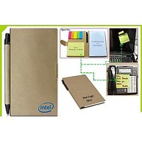 Eco Stickon Notepad With Pen JCN1068