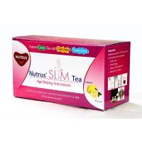 Nutrus Slim Tea  20 Sachets Pack Lemon Flavour Garcinia & Probiotics Pack Of 4