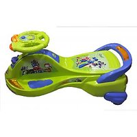 Deluxe Musical Ride-on Cruizer With LED Lights- Green