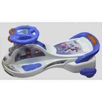 Deluxe Musical Ride-on Cruizer With LED Lights- White